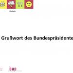 Wertschätzung und Stärkung der politischen Bildung durch den Bundespräsidenten Frank-Walter Steinmeier