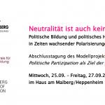 Neutralität ist auch keine Lösung! Politische Bildung und politisches Handeln in Zeiten wachsender Polarisierungen