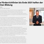 Corona-Sonderregelungen für die Richtlinienförderung der bpb werden bis Ende 2021 fortgeführt