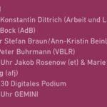 Programm am Stand der GEMINI-Träger am 20. Mai 2021 beim Deutschen Kinder- und Jugendhilfetag